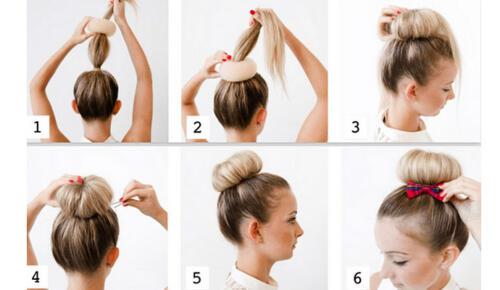 Balerin Topuzu Olan Bayan Saç Modeli Bakın Nasıl Yapılır